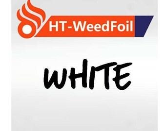 HT WeedFoil Heat Transfer Vinyl - Iron On - HTV - White Foil