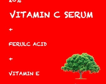 Pure Vitamin C Hyaluronic Acid Serum 20% for Face | BEST Anti Aging | 30 mL