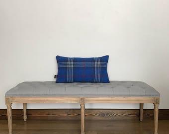 Wool pillow cover, wool pillow cover, throw pillow, blue vintage wool pillow