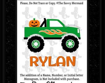 Halloween SVG Boy- Halloween Cut file- Boy Halloween Shirt SVG- Halloween Truck Svg- Pumpkin Svg- Cricut Halloween- DXF Silhouette- Iron on
