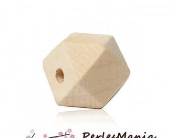 NATURAL 20 mm S1176071 polygons wooden beads
