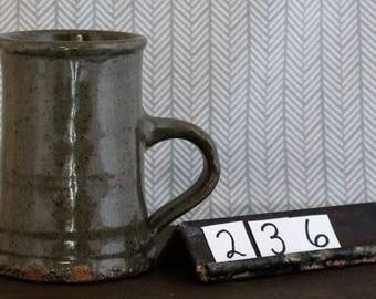 Celadon Stoneware Mug/ Coffee Cup/ Green/ Handmade/ Tea Cup/ Dishes/ Drinks/ #236