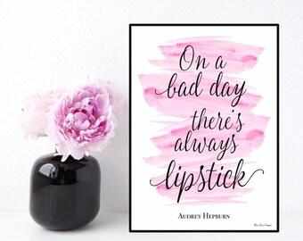 Audrey Hepburn quote, Celebrity quote, Inspirational wall art, Poster quote Audrey Hepburn, Inspirational quote, Typography printable