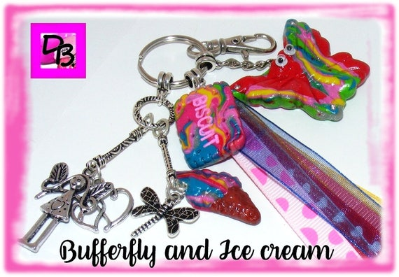 Porte-clés [Butterfly and Ice cream]