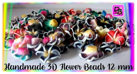 10 perles fleurs de frangipanier 12 mm
