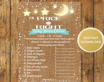Baby Shower Twinkle Twinkle The Price is Right Game-Digital Instant Download-Baby Shower Price is Right Printable Game-Baby Shower Games