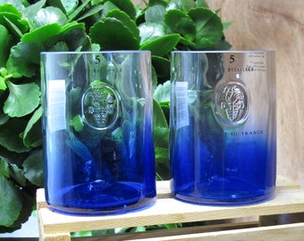 rocks glasses ciroc vodka blue recycled bottle glass set fun gift idea friend gift booze gift ideas for  real man gift vodka gift xmas gift