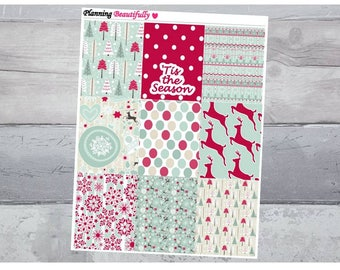 Christmas Stickers, Christmas Planner Stickers, Erin Condren Stickers, Planner Sticker Kit, Erin Condren Weekly Kit, Erin Condren Stickers