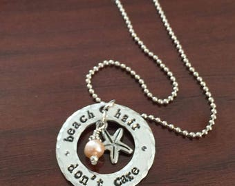 Summer is here!  Celebrate with this lovely beach pendant necklace!