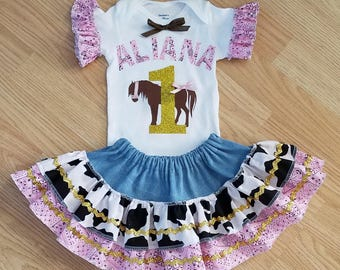 Cowgirl First Birthday, Western First Birthday, Western Birthday, Cowgirl Birthday, Cowgirl Costume, Pony Outfit