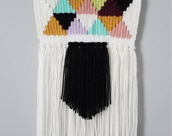 Multi-Colored Woven Wall Hanging