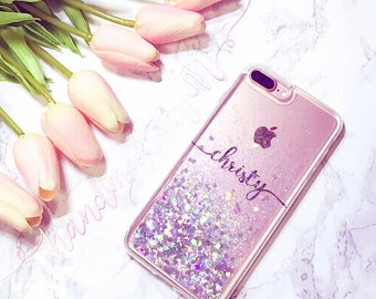 Floating Glitter Clear iPhone 7 case iPhone 7 Plus case iPhone 6S case iPhone 6S Plus case iPhone 6 case iPhone 6 Plus case iPhone SE case