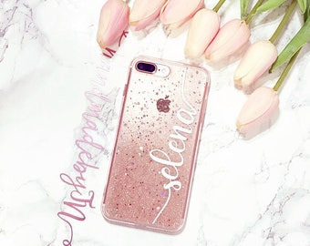 Sugar rose gold Glitter Phone case iPod Touch 6th Generation Case iPod Touch 5th Generation case Personalized Gift iPhone case