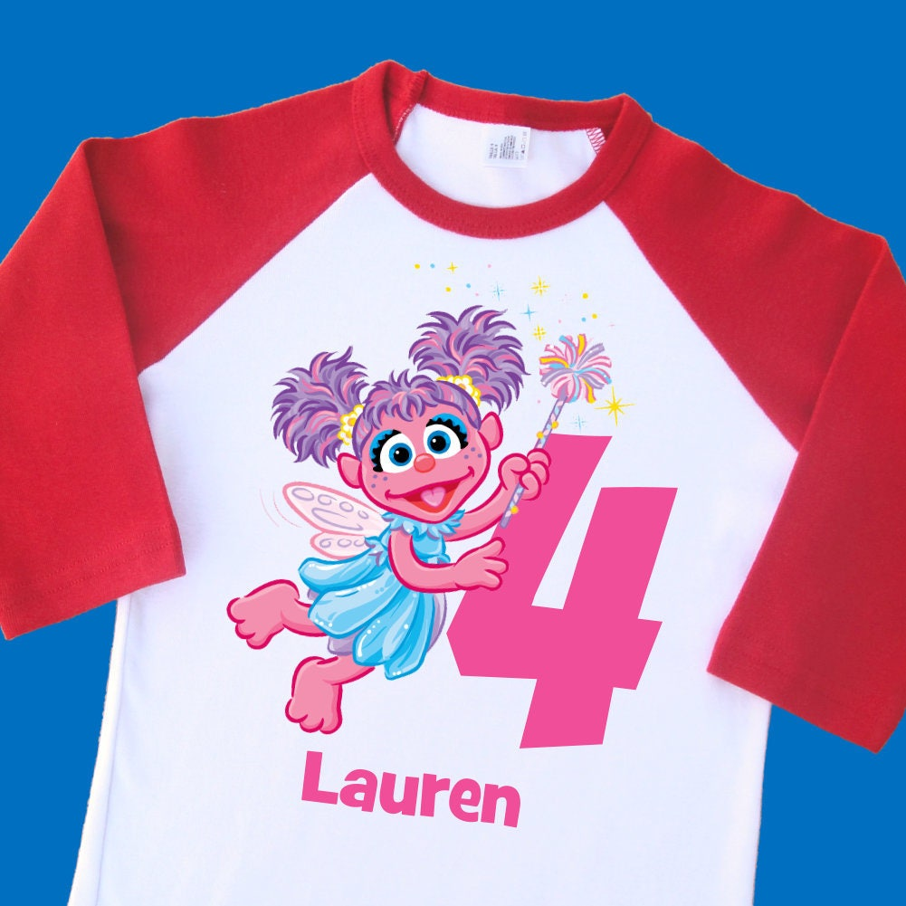abby cadabby birthday shirt personalized raglan with name and age