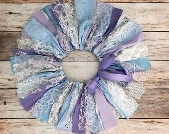 Lavender Blue and Silver Fabric Tutu, Purple Blue and Silver Fabric Tutu, Purple and Silver Baby Girl First Birthday Outfit
