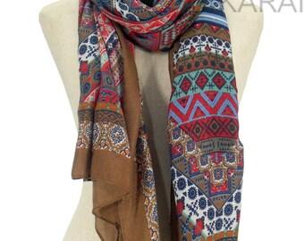 10% OFF Geometric Pashmina Scarf,Spring Scarf, Autumm Scarf, Fall Scarf, Oversize Cowl Scarf, Shawl, Women Scarves, square scarf