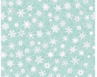 Christmas Cheer Winterlude-Aqua Fabric by Patrick Lose