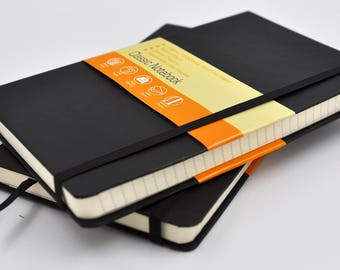 "2 pack 5x8.25"" (13x21cm) Classic Notebook, Preferential and Premium, Acid free"