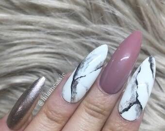 Marble accent | Press on nails False nails Fake nails