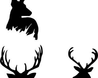 Pack of 3 deer. svg.eps.jpg