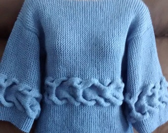 Blue sweater for women