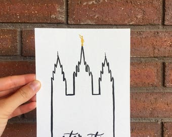 LDS Temple Outline (Salt Lake, Bountiful, and Draper)
