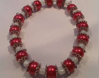 Red & White Spacer Stretchy
