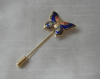 Enamel Butterfly Stick Pin