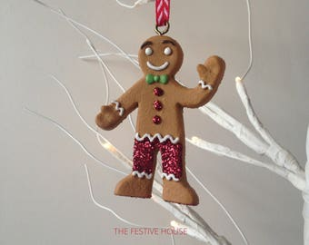 Gingerbread Man Christmas Decoration, Gingerbread Tree Ornament, Christmas Decorations, Gingerbread Hanging Decoration