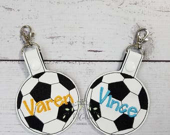 Personalized Name Tag-Soccer Backpack Name Tag-Personalized Soccer Coach Gift-Personalized Soccer Gym Laptop Bag Tag-Personalized Key Chain