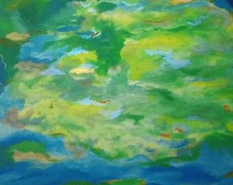 Madre Naturaleza,pintura al óleo sobre lienzo de algodón en bastidor