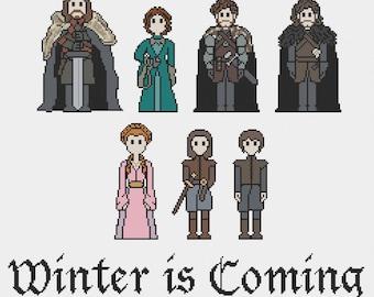 Stark Family - Game of Thrones Cross Stitch Pattern