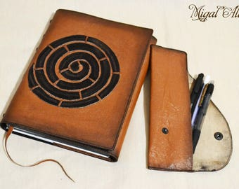 """Leather Notepad """"POLINIAZIETS"""""""