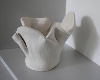 """Terra cotta """"Corolle"""" art object"""