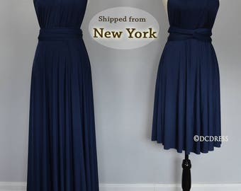 Navy Bridesmaid dress, infinity dress, convertible dress, party dress, prom dress, multiway dress, long dress, bridesmaid dress, maxi dress