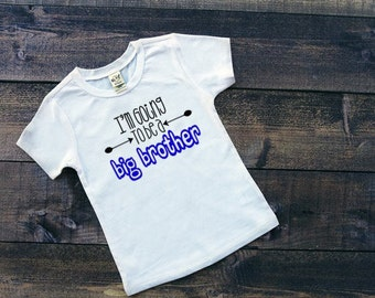 Big Brother T-Shirt, Promoted To Big Brother, Big Bro Tee, Pregnancy Announcement, New Baby Tee, Brother Shirt, New Baby Announcement