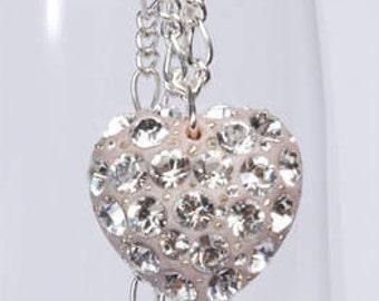 Evisa #127 Crystal heart pendant