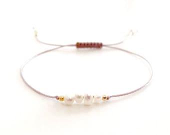 Freshwater pearl bracelet, Dainty bracelet, Delicate pearl bracelet, Pearl bracelet, Bridal jewelry