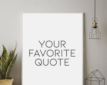 Exceptionnel CUSTOM QUOTES, Personalized Prints, Custom Wall Art, Modern Wall Art,  Minimalist Wall