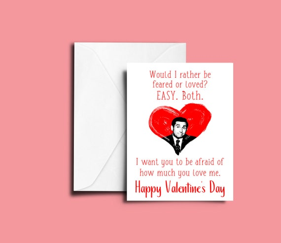 The Office Valentine\'s Day Greeting Card Michael Scott