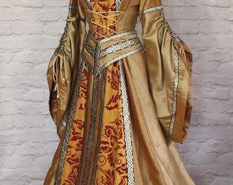 New Period Renaissance Victorian Edwardian Period Theater Costume Dress M - 4XL