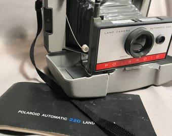 Vintage Polaroid 220 Instant 60's Land Camera with Original Manual