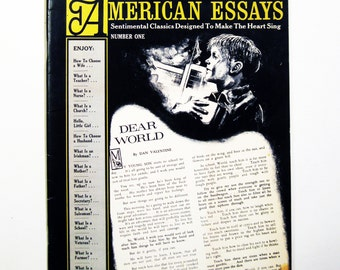 "Vintage ""American Essays No. 1"" Sentimental Classics Designed To Make The Heart Sing"