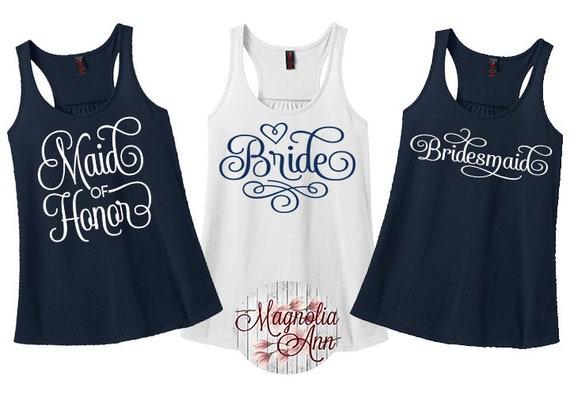 Bride Bridesmaid Bachelorette Racerback Tanks, Bachelorette Party Shirts, Bridesmaid Shirts, Plus Size Bachelorette, Plus Size Bride, Curvy