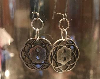 Button dangle earrings!