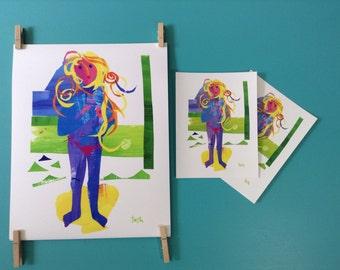 Alaska Venus, Beach Girl, 8 x 10 Art Print