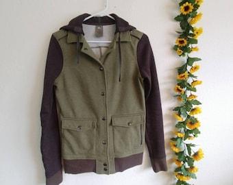 Green + Grey Pocket Jacket