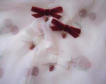 Sweet Strawberry Dolly Earrings