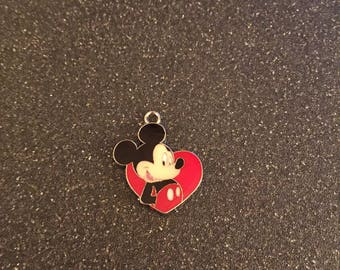 Mickey Mouse heart charm
