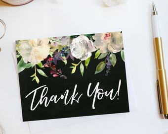 Wedding Thank You Card Custom Wedding Thank You Cards Botanical Wedding Thank You Cards Floral Wedding Thank You Cards Garden1